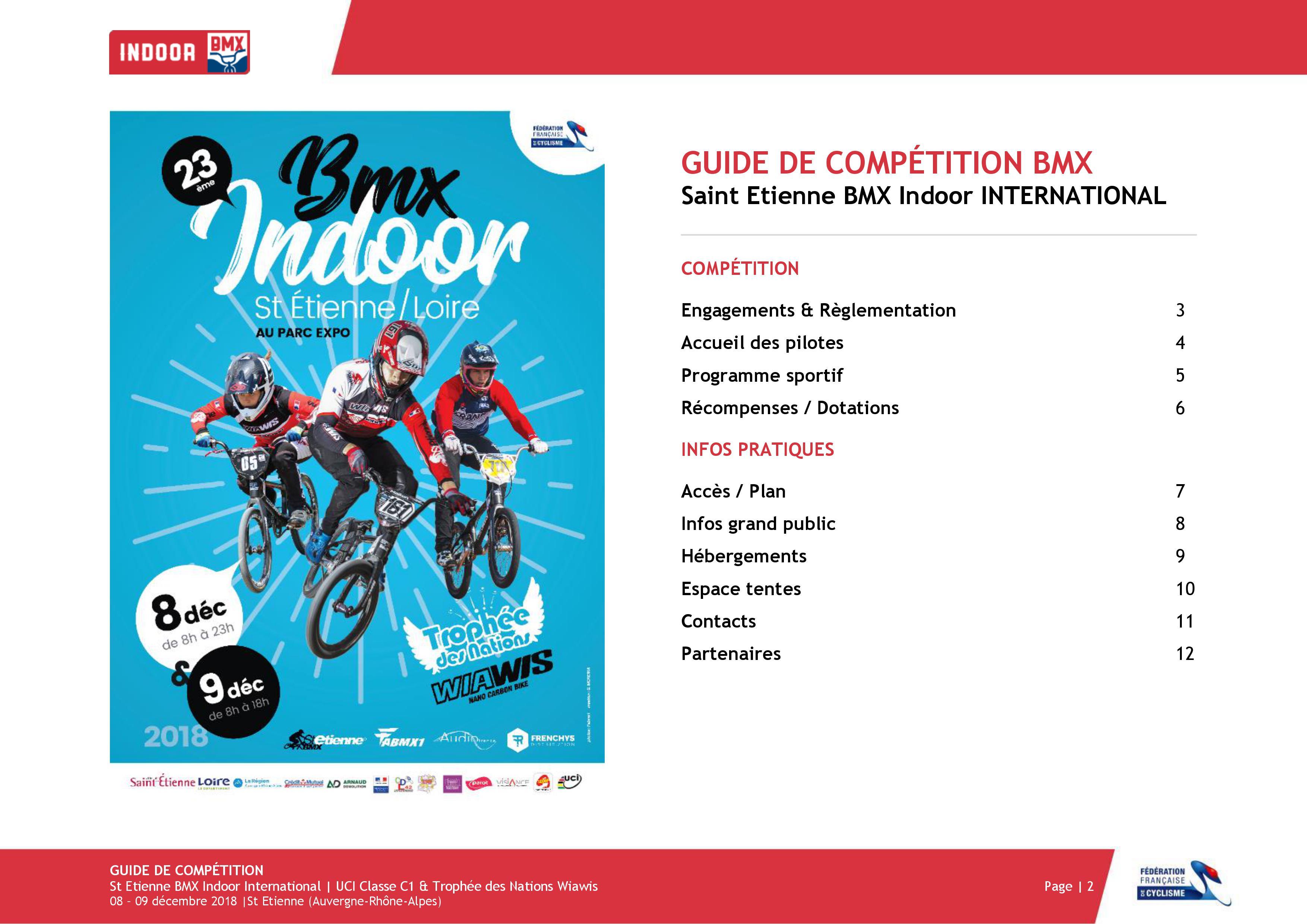 Guide de compétition Indoor Saint Etienne BMX 2018