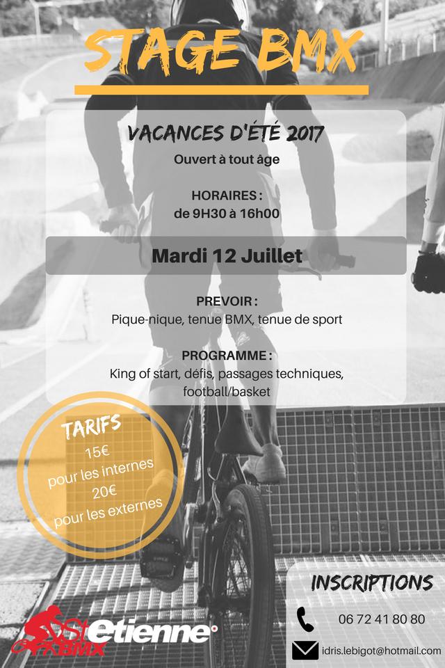 STAGE BMX ST ETIENNE ETE 2017