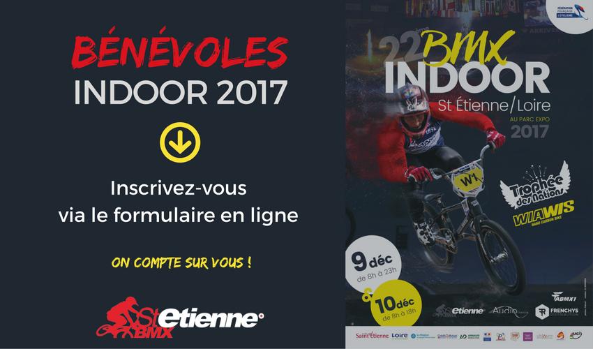 Bénévoles Indoor 2017 Saint Etienne BMX
