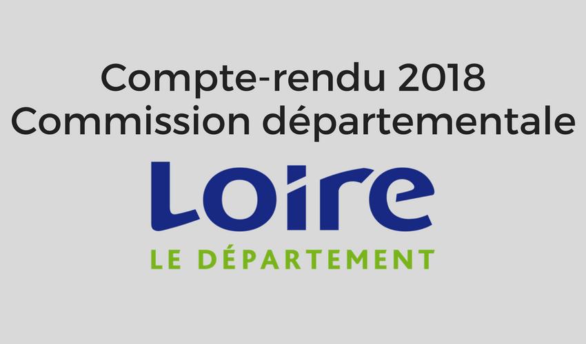 Compte rendu commission départementale Loire 2018