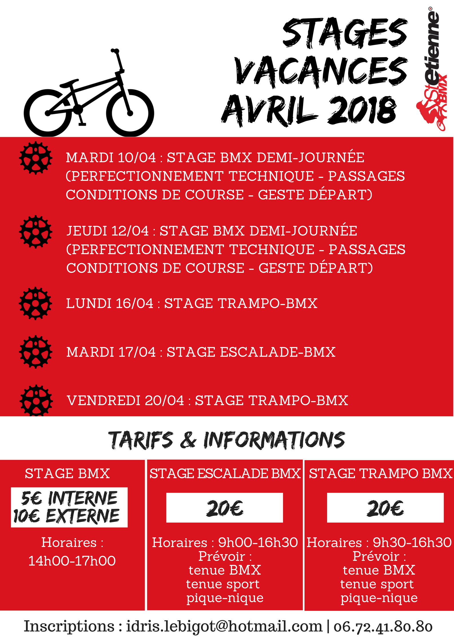 stages avril 2018 saint etienne bmx