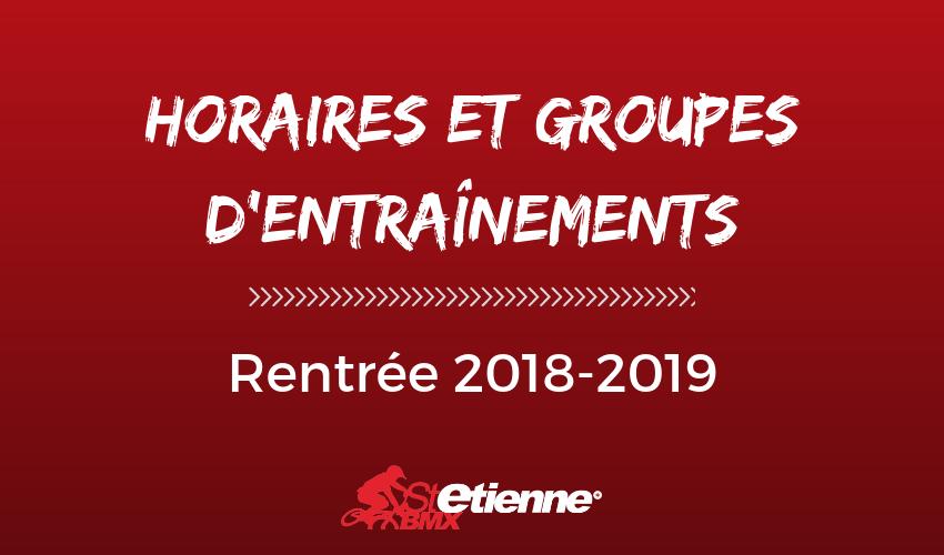 Horaires et groupes d'entraînements St Etienne BMX